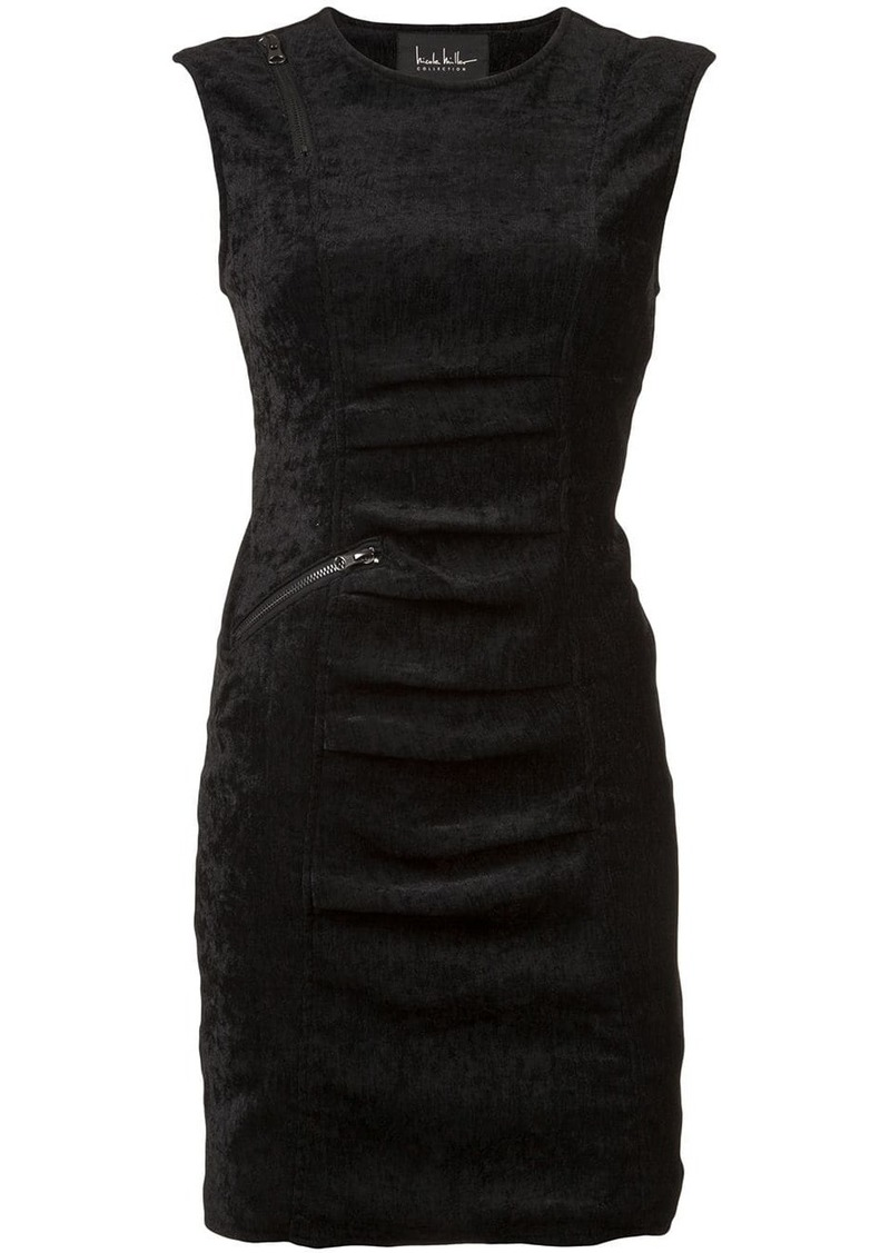 Nicole Miller sleeveless ruched dress