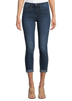 Nicole Miller Soho High-Rise Roll-Cuff Jeans