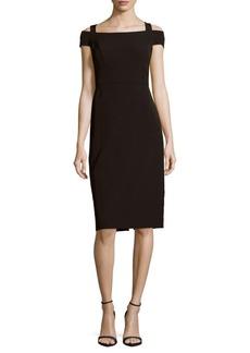 Nicole Miller Solid Cold-Shoulder Dress