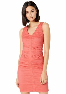Nicole Miller Solid Cotton Metal Sleeveless Dress