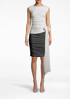 Nicole Miller Solid Cotton Metal Tie Top