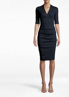 Nicole Miller Solid Ponte Dress