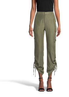 Nicole Miller Solid Silk Cargo Pant