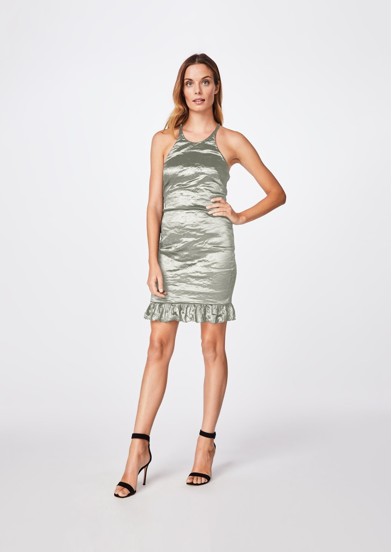 Nicole Miller Solid Techno Metal Racerback Dress