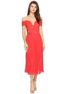 Nicole Miller Solstice Cotton Metal Combo Party Dress