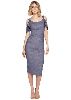 Nicole Miller Sophia Chambray Cold Shoulder Dress