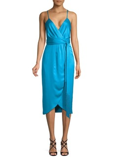Nicole Miller Spaghetti Strap Wrap Dress