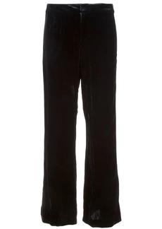 Nicole Miller straight cut velvet trousers
