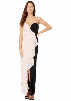 Nicole Miller Strapless Ruffle Gown