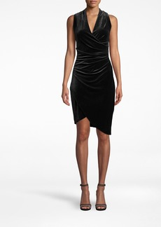 Nicole Miller Stretch Velvet Stefanie Dress