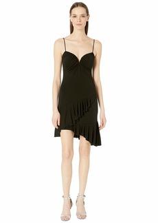 Nicole Miller Stretchy Matte Jersey Ruffle Dress