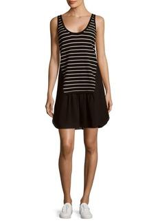 Nicole Miller Stripe Sleeveless Dress