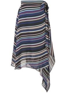 Nicole Miller striped asymmetric skirt