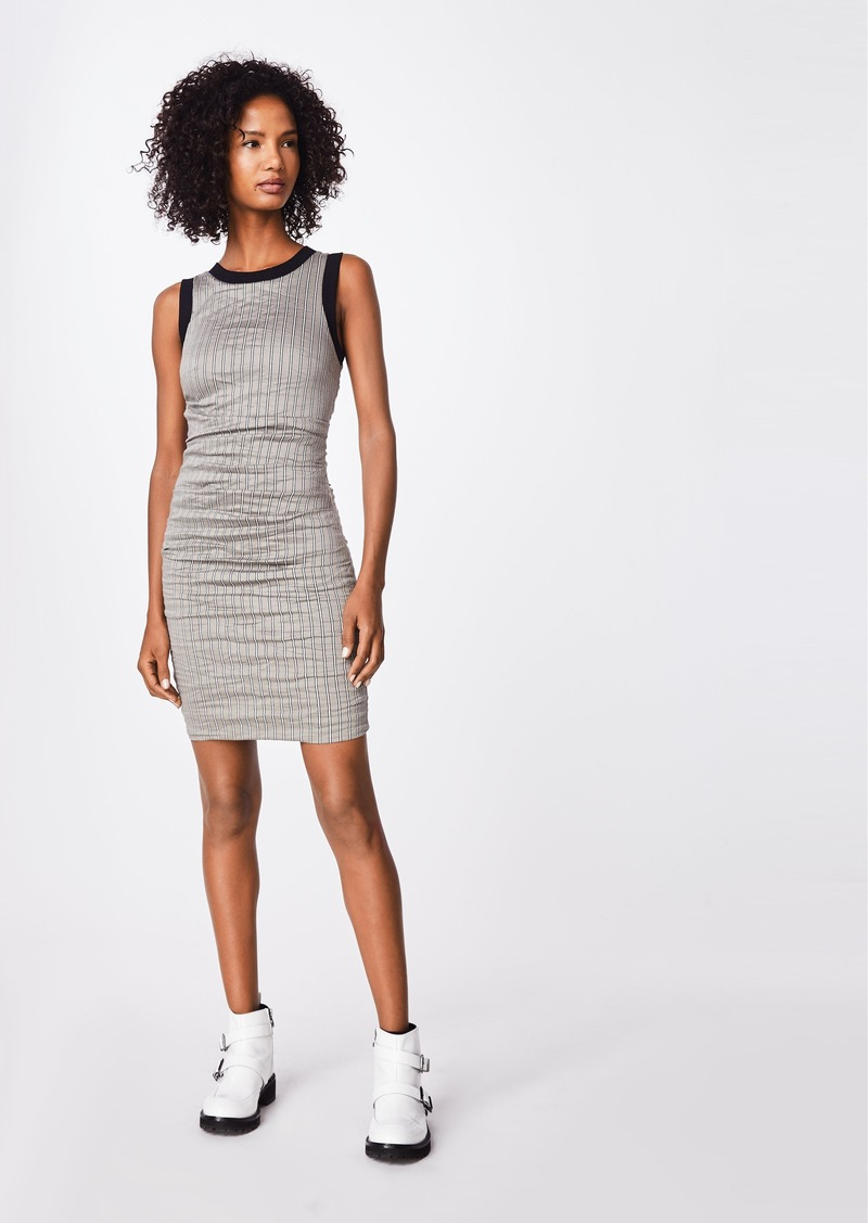 Nicole Miller Striped Cotton Metal Sheath Dress