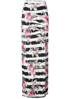 Nicole Miller striped floral print skirt