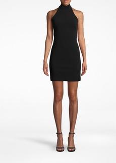 Nicole Miller Structured Heavy Jersey Mock Neck Mini Dress