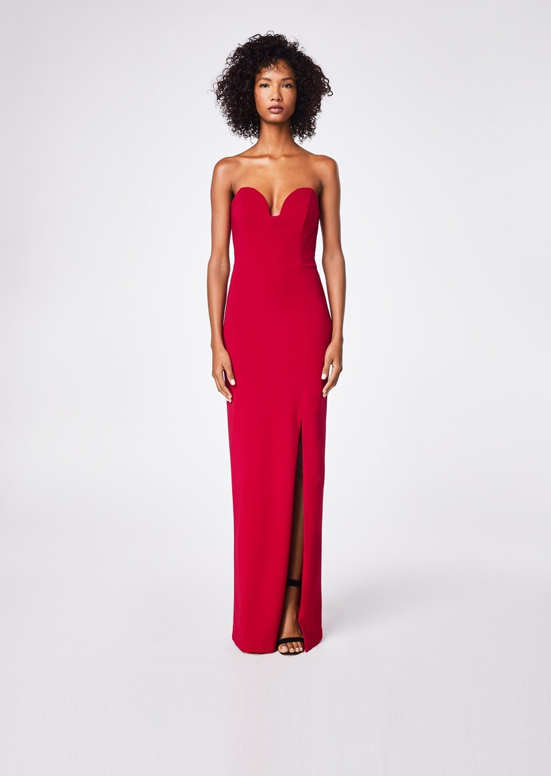 Nicole Miller Structured Heavy Jersey Strapless Gown