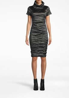 Nicole Miller Techno Metal High Neck Dress