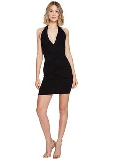 Nicole Miller Tidal Pleat Halter Dress