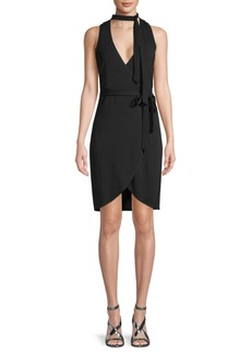 Nicole Miller Tie-Waist Wrap Dress