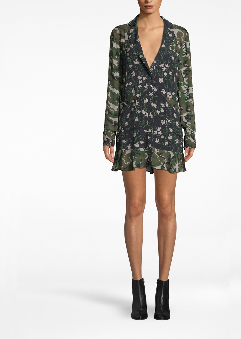 Nicole Miller Tulip Camouflage Blazer Dress
