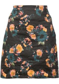 Nicole Miller vintage floral mini skirt