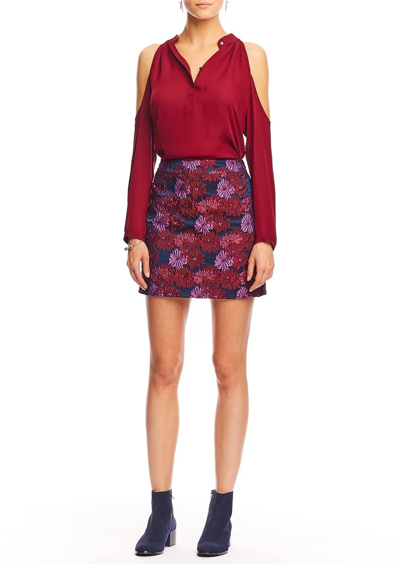 Nicole Miller Wildflowers Mini Skirt