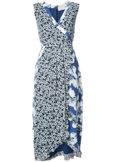 Nicole Miller wrap midi dress