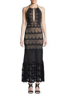Nightcap Belle Nuit Halter Gown in Lace