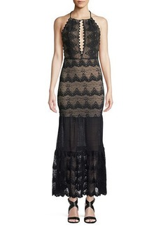 Nightcap Belle Nuit Halter Gown in Lace