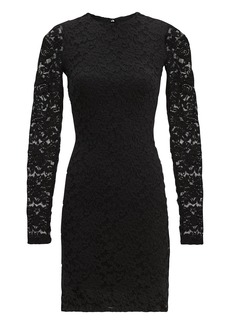 Nightcap Black Sweater Lace Dress