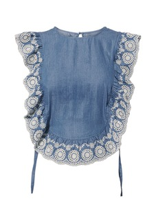 Nightcap Chambray Apron Top