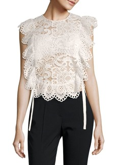Nightcap Cotton Scalloped Lace Top