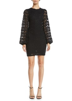 Nightcap Dixie Lace Bubble-Sleeve Mini Dress