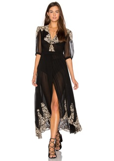Nightcap by Carisa Rene Antique Lace Wrap Gown