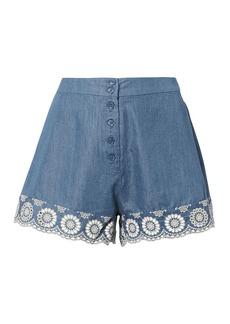 Nightcap Lace Trim Chambray Shorts