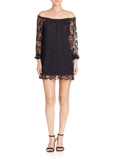 Nightcap Clothing Dentelle Off-the-Shoulder Dress