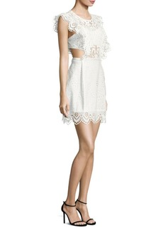 Nightcap Clothing Eyelet Apron Mini Dress