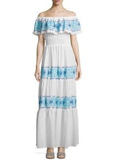 Nightcap Clothing Greek Isles Off-The-Shoulder Maxi Dress