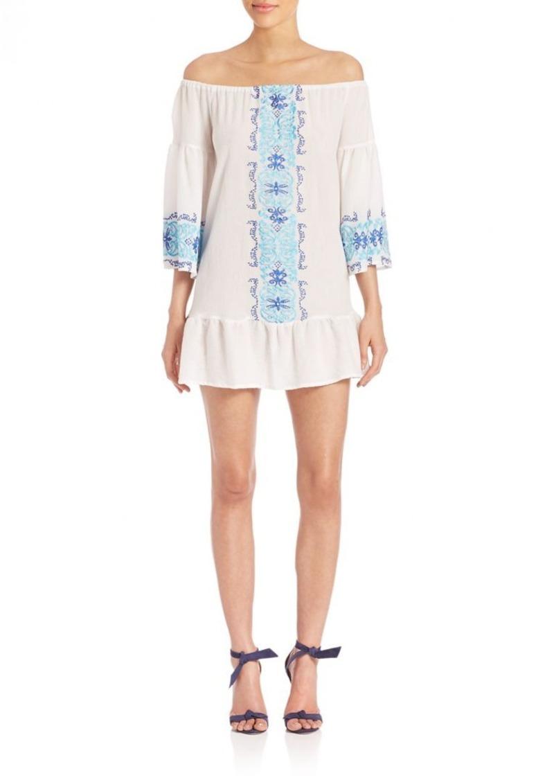 Nightcap Clothing Santorini Embroidered Dress