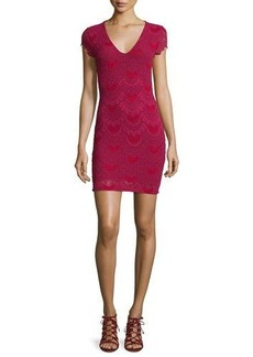 Nightcap Clothing Spanish Lace Cap-Sleeve Dress