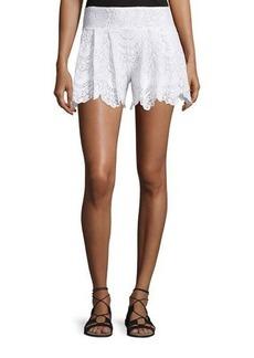 Nightcap Clothing Spanish Lace Fan Shorts