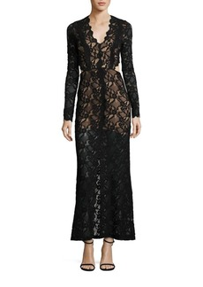 Nightcap Clothing Wisteria Cutout Lace Gown