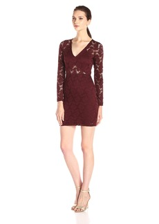Nightcap Women's Deep V Wallflower Lace Dress