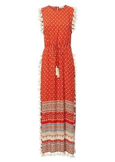 Nightcap Pom Pom Fringe Maxi Dress