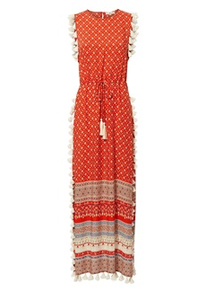 Nightcap Pom Pom Fringe Maxi Dress