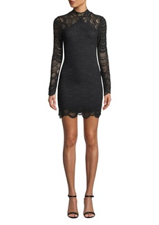 Nightcap Victorian Lace Long-Sleeve Mini Dress