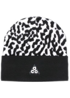 Nike abstract pattern beanie