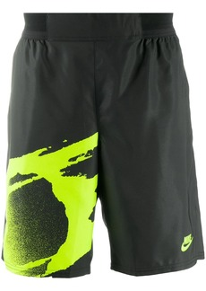 Nike abstract print track shorts