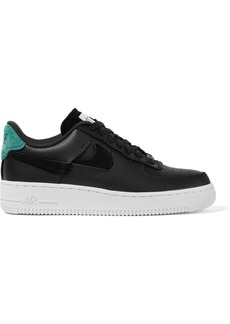 Nike Air Force 1 '07 Lx Suede-trimmed Leather Sneakers